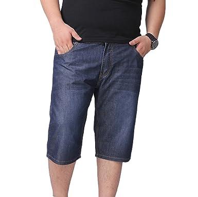 d4a35b09eacfc LvRao Herren Jeans Shorts Übergröße Denim Shorts Sommer Kurze Hose ...