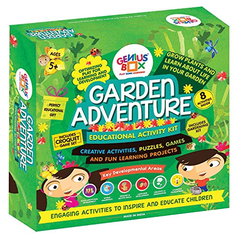 Genius Box Garden Adventure Toddler kit | 8 Science Project Inside | DIY Activity Kit | Puzzles|Game for Over 5 Years Kids | STEM and Art Activity | Fun Learning Toys | Education Toys Gift