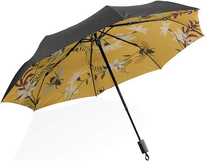 Vintage Map Folding Compact Sun Rain Men Women Kids Umbrella Cover Waterproof UV