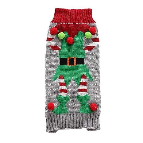 Balacoo Navidad Perro suéter Payaso Disfraz Ropa Ropa Bola ...