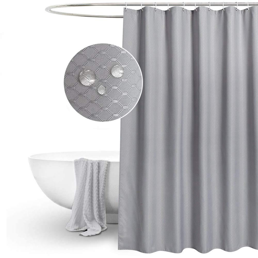 Shower Curtain Polyester Size 180,0 cm x 200,0 cm Waterproof Dark Grey NEW