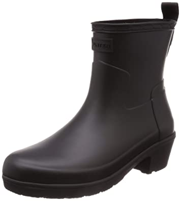 1f0a3e6cd5c Hunter Womens Refined Low Heel Ankle Biker Rain Boots