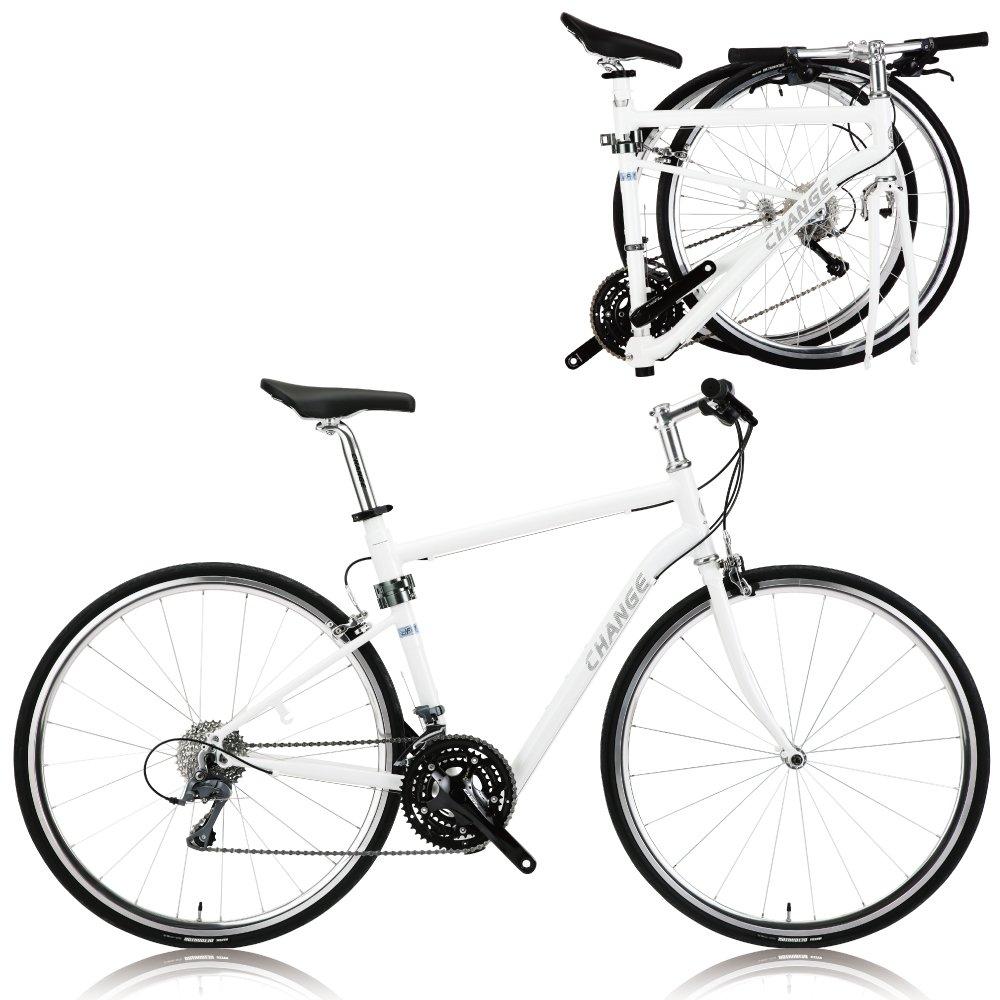 CHANGE軽量フルサイズロード 折りたたみ自転車 シマノ24速 DF-702W B06ZYGVJ5X 550
