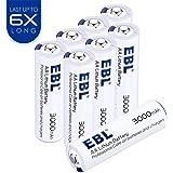 EBL 8 Unidades AA Litio Baterías 1.5V 3000mAh Metal de Litio Pila Alta Capacidad para los Equipos Domésticos