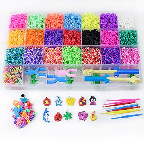 Ouniman Rainbow Color Rubber Loom Bands Refills Kit