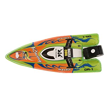 Kids Children Inflatable Wind Up Speedboat Boat Pool Bath Toy Green 6