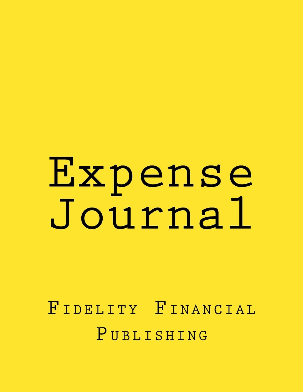 Read Online Expense Journal: Yellow Cover, Full-size, 126 pages ebook
