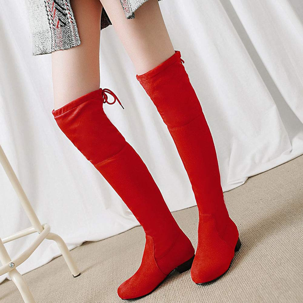 Luis Vuis Ladies Over The Knee Stretch Boots Low Heel Boots