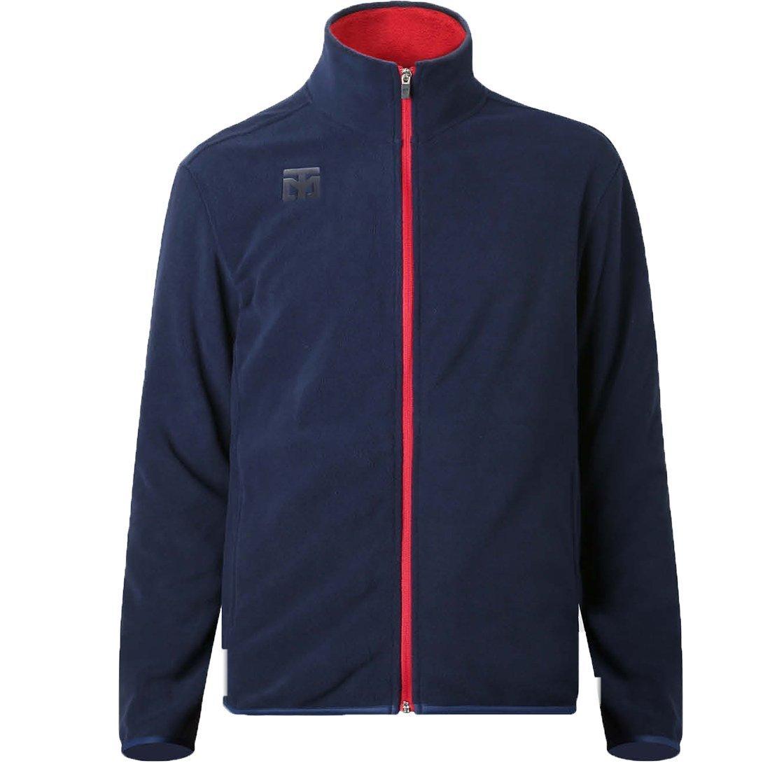 MOOTO Fleece Zip-up フリースジップアップジャケットウィンタートレーニングネイビー B07B6MVTSD  150cm(4.92ft)