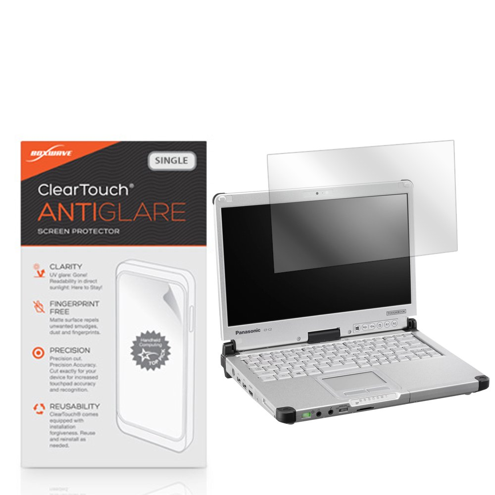 Panasonic Toughbook CF-C2 Screen Protector, BoxWave [ClearTouch Anti-Glare] Anti-Fingerprint, Scratch Proof Matte Film Shield for Panasonic Toughbook CF-C2 by BoxWave