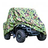 XYZCTEM UTV Cover with Heavy Duty Oxford Waterproof Material, 114.17'' x 59.06'' x 74.80'' (290 150 190cm) Included Storage Bag. Protects UTV From Rain, Hail, Dust, Snow, Sleet, and Sun (Camo)