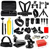 Soft Digits Accessories Kit for GoPro Hero 5 4 3+ 3 2 1 Session Accessory Bundle Set for Action Camera SJ4000 SJ5000 SJ6000 Xiaomi Yi-Flotation Handle+Head Strap+Chest Strap