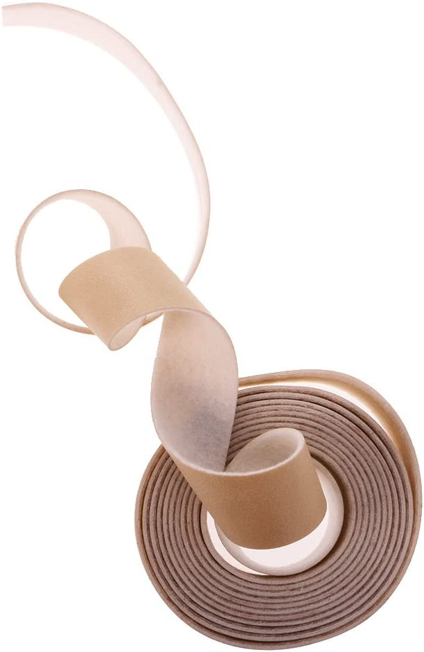 Beige Belts 10 Meters Craft PU Leather Strap Flat Leather Strip Rope for Bags,Handle Wraps Ribbons Clothing Jewelry Making 0.78 inch Width