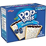 Pop-Tarts Breakfast Toaster Pastries, Frosted Blueberry Flavored, Bulk Size, 144 Count (Pack of 12, 22 oz Boxes)