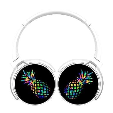6Dian - Auriculares de piña con micrófono (estéreo, plegables, inalámbricos, bluetooth)