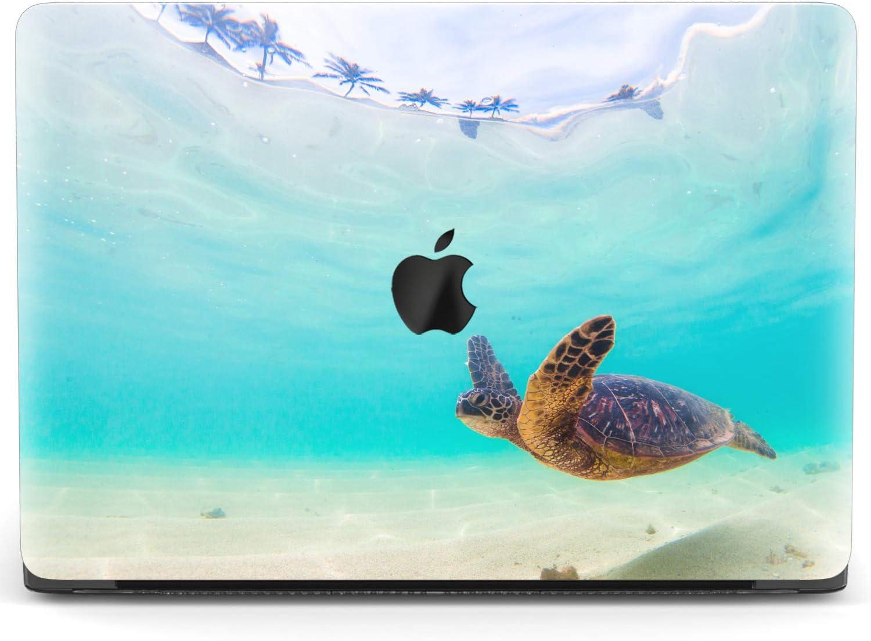 Mertak Hard Case for Apple MacBook Pro 16 Air 13 inch Mac 15 Retina 12 11 2020 2019 2018 2017 Blue Protective Underwater Clear Cute Touch Bar Shell Swimming Laptop Print Ocean Girl Women Turtle Sea