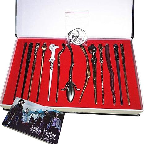 13PCS Magic Wands Harry-Potter-Hermione-Dumbledore-Sirius-Voldemort Xmas Gifts