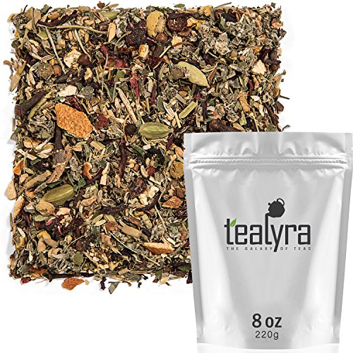 Tealyra - Calm Down - Nirvana - Chamomile Ginger Hibiscus - Wellness and Relaxing Herbal Loose Leaf Tea - Detox Tea - Caffeine-Free - All Natural - 220g (8-ounce)
