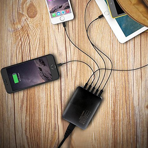 Wall Charger,POWERIVER 40W 8A 5-Port USB Charger Charging Station High-Speed Charging with iSmart Technology Each Port Max 2.4A