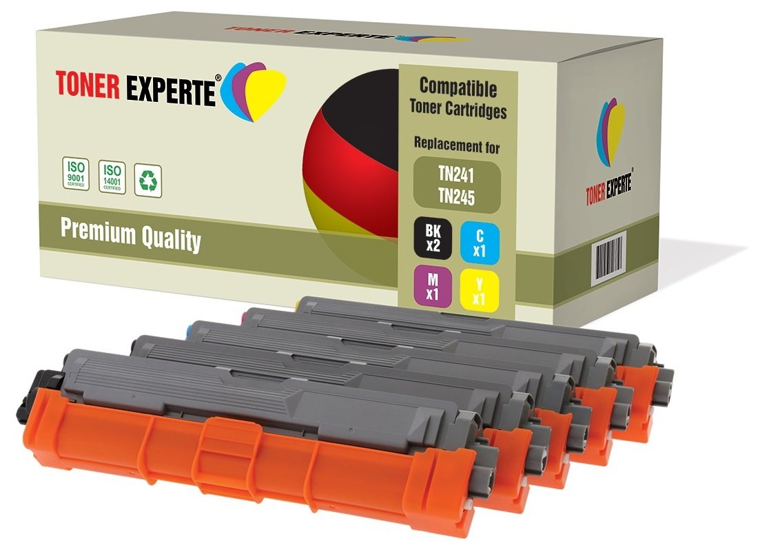 2500 Pages TONER EXPERTE/® TN-241 TN241BK Black Toner Cartridge compatible for Brother DCP-9015CDW DCP-9020CDW MFC-9140CDN MFC-9330CDW MFC-9340CDW HL-3140CW HL-3142CW HL-3150CDW HL-3152CDW HL-3170CDW