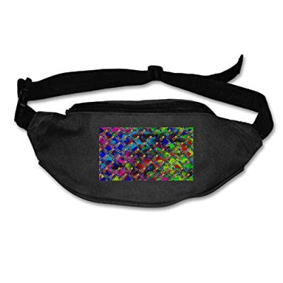 Unisex Pockets Colorful Squid Fanny Pack Waist / Bum Bag Adjustable Belt Bags Running Cycling Fishing Sport Waist Bags Black