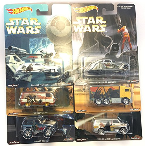 Hot Wheels 1:64 Scale Ralph McQuarrie Star Wars Diecast Mdoel Car Set of 6 cars - DLB45-956F