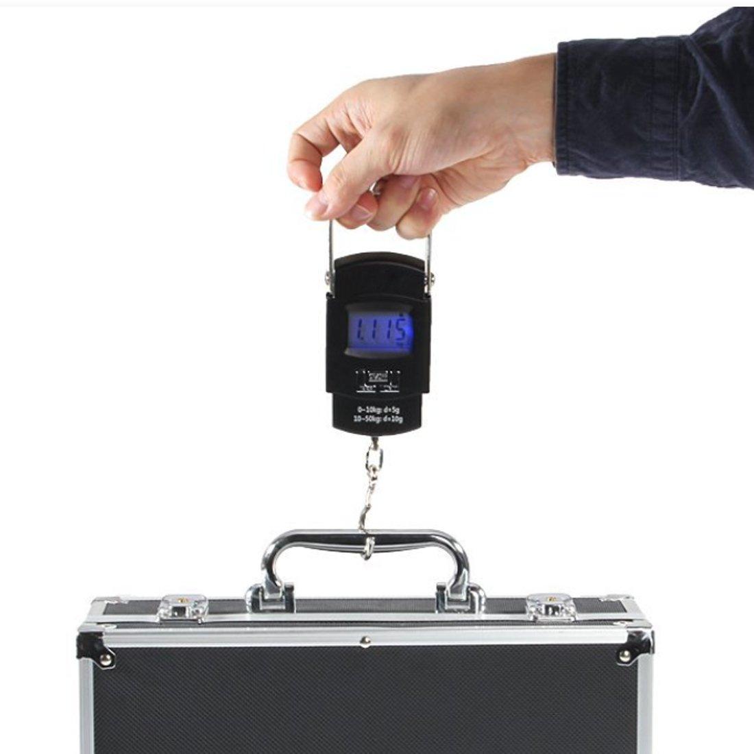 Báscula Digital de Precisión Balanza Electrónico De Mano Colgar Equipaje 50kg para Maletas Equipaje de Viaje Báscula: Amazon.es: Bricolaje y herramientas