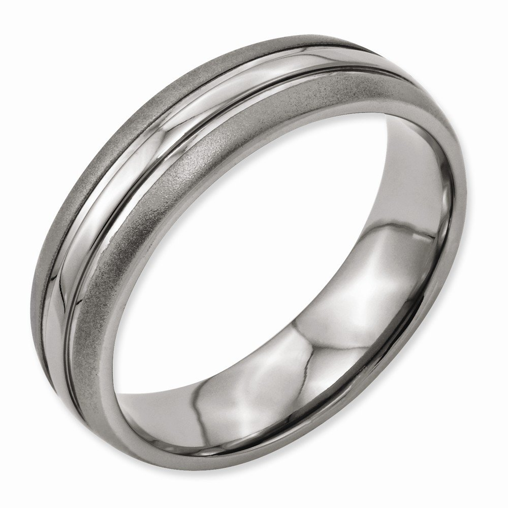 Best Quality Free Gift Box Satisfaction Guaranteed Titanium Grooved 6mm Brushed And Polished Band