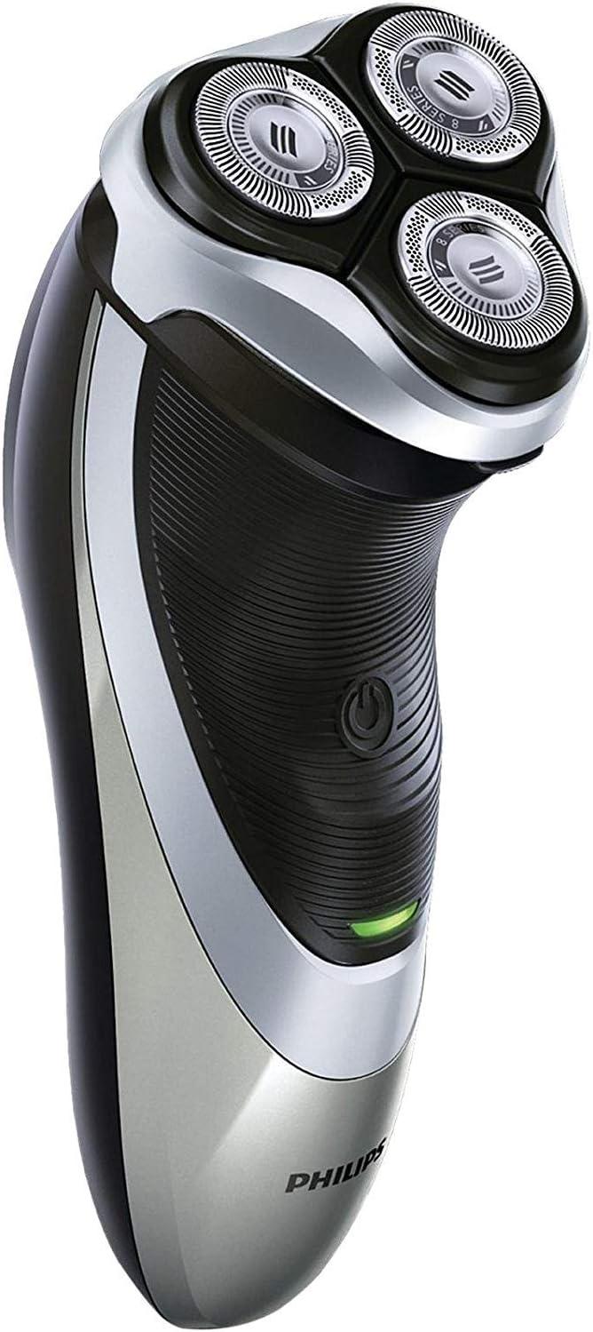 Philips PT860/16 Power Touch - Afeitadora eléctrica con cabezales flexibles DualPrecision, alimentado por batería, gris