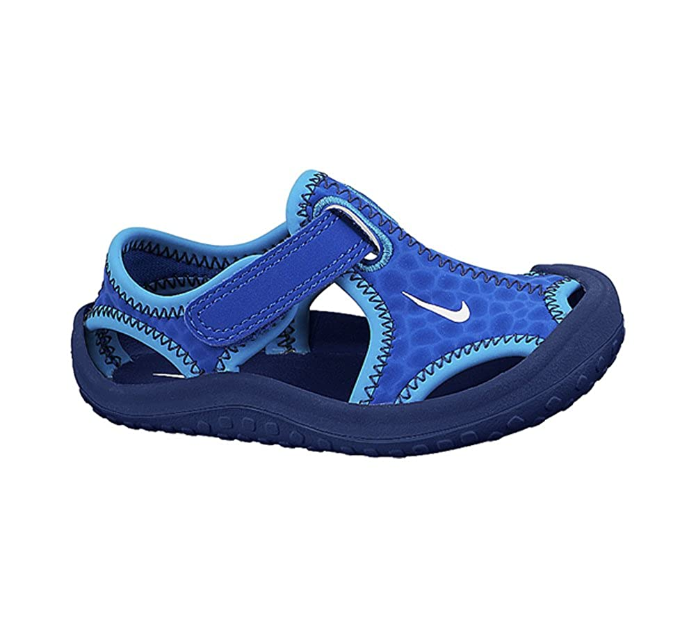 57aae86d818f Nike New Baby Boy s Sunray Protect Sandal Blue Midnight Navy 4  Amazon.in   Shoes   Handbags