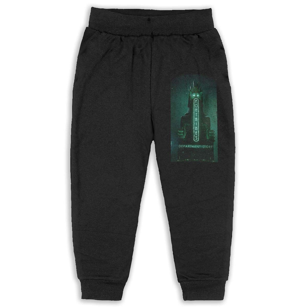 Pleasantly Bioshock Wallpaper Long Pants Sweatpants for Unisex Childrens Casual Trousers Black