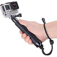 Vicdozia Selfie Stick, 19'' Waterproof Hand Grip Extendable Monopod Handle Adjustable Pole for GoPro Hero 7 6 5 Session, Hero 4 3+ 3 2 1 AKASO GeekPro SJCAM SJ4000 SJ5000 Xiaomi Yi Camera(Black)