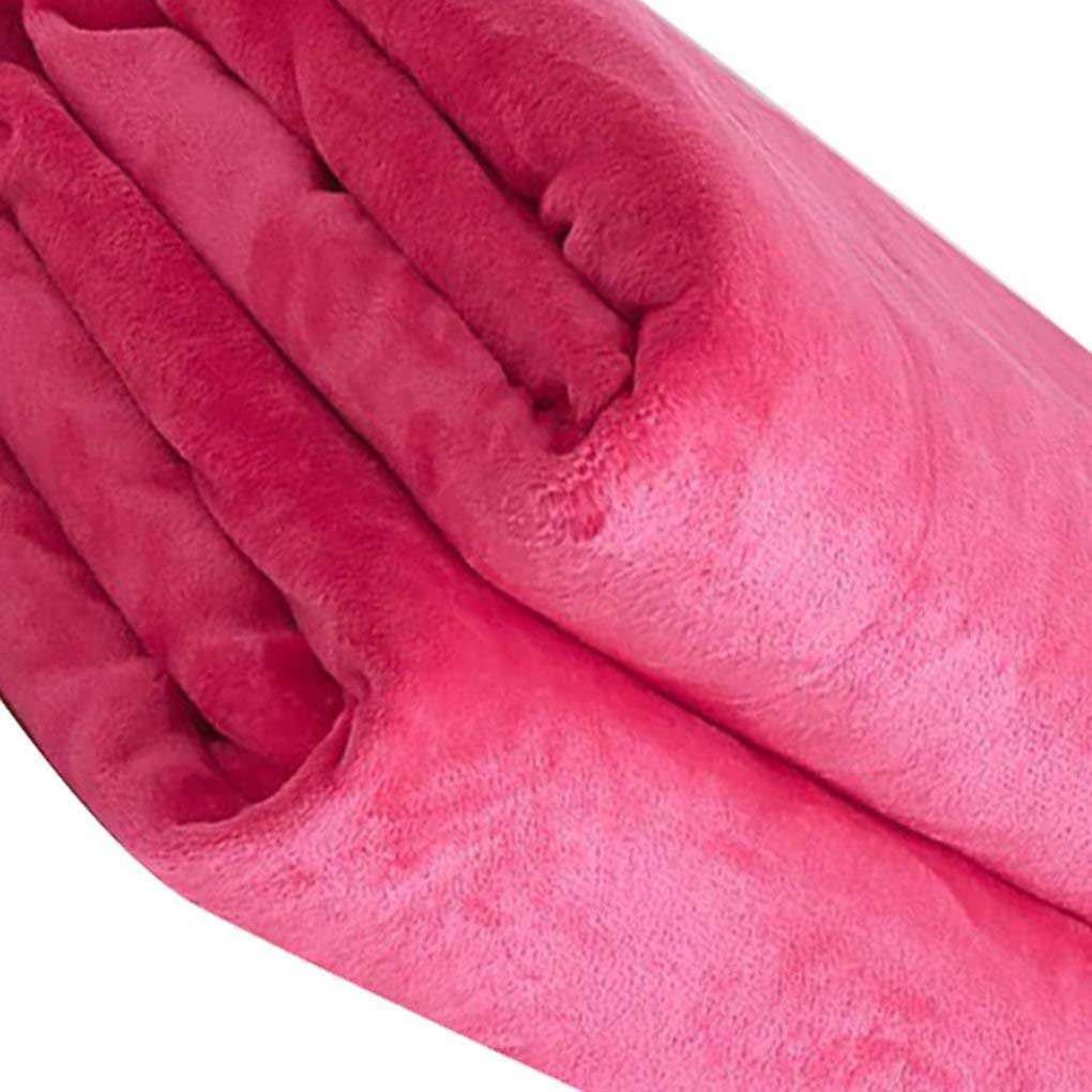 Pegcduu Color s/ólido Franela Manta Cama para el autom/óvil Car Oficina Oficina BlanketBed Caliente Sof/á Invierno Caliente del oto/ño de alfombras climatisaci/ón Alfombras habitaci/ón