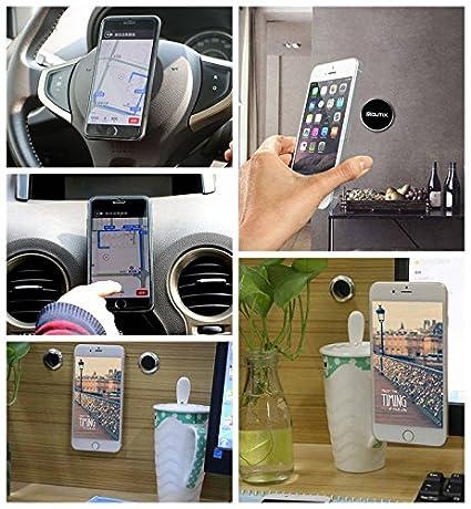 Samsung Note Huawei Moutik/® Soporte Magn/ético Universal con Pegatinas Metalicas Iman M/óvil Coche para iPhone Xs//X//8//7//6 Xiaomi y Otros Smartphones