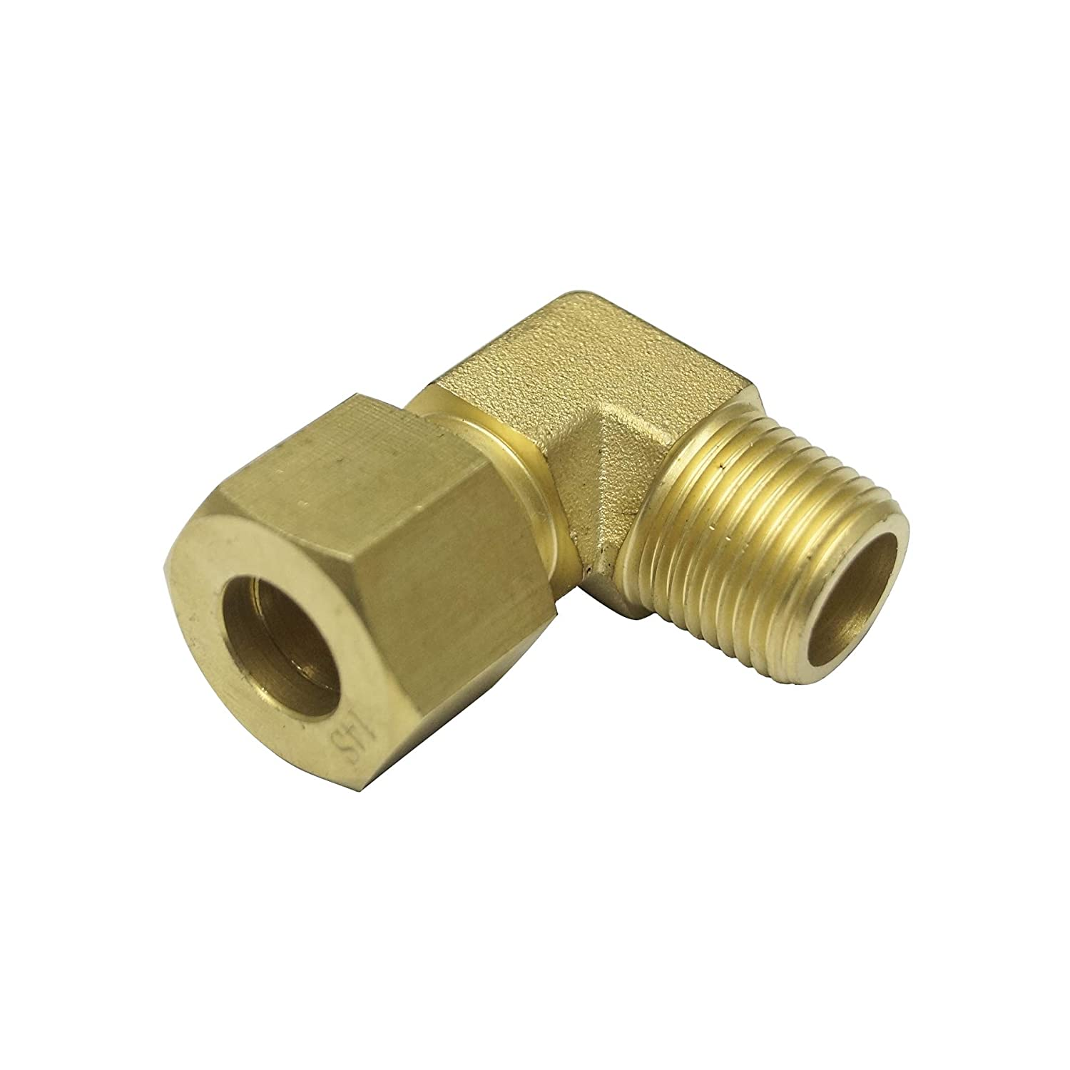 for 8MM OD Tube Brass Material 90 Degree Male Elbow 8L x 1//8 NPT Male Thread Light Series