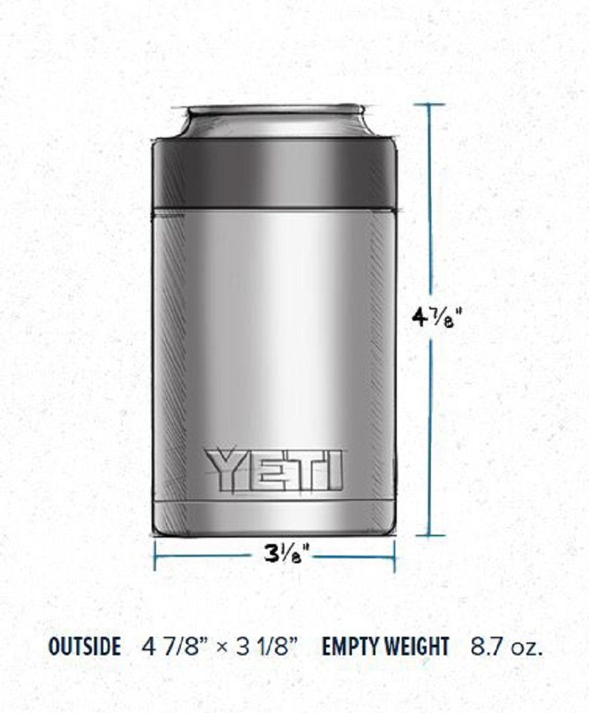 YETI Rambler Colster Can and Bottle Holder Silver One Size by YETI (Image #3)