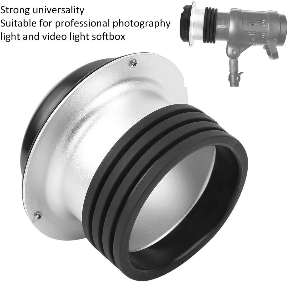 Camera Lens Adapter Ring,Portable Alloy Adapter Ring Convertor for Profoto Mount to for Bowens Mount Softbox Flash Light Photography Light Adapter Ring