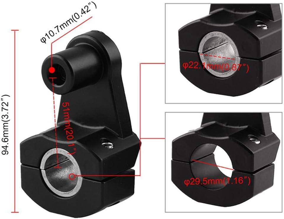 ABS de 22 mm//28 mm y aleaci/ón de aluminio Manillar de la motocicleta Abrazaderas de montaje de la barra Elevador Universal ajustable Soporte de fijaci/ón del mango