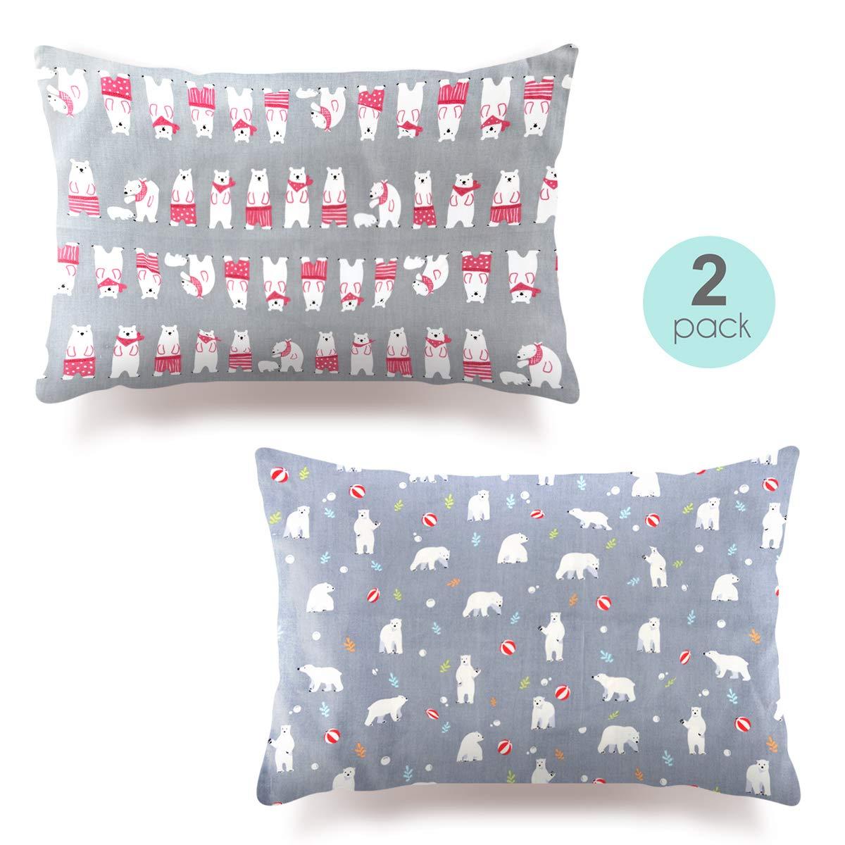 Kids Toddler Pillowcases-2 Pack Pillow Cover for Boys Girls Kids Bedding,Little Bear by COSMOPLUS