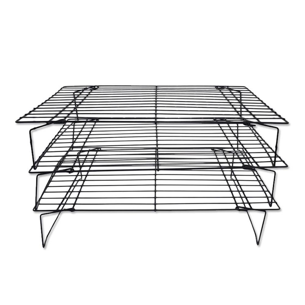 Bakeable Cooling Rack, 3-tier Bakeable Nonstick Cooling Rack Carbon Steel Stackable Wire Cookie Cake Cooling Rack for Bread and Other Baked Food, Stable Legs, Oven Safe, 15.79.8'' by Aolvo (Image #8)