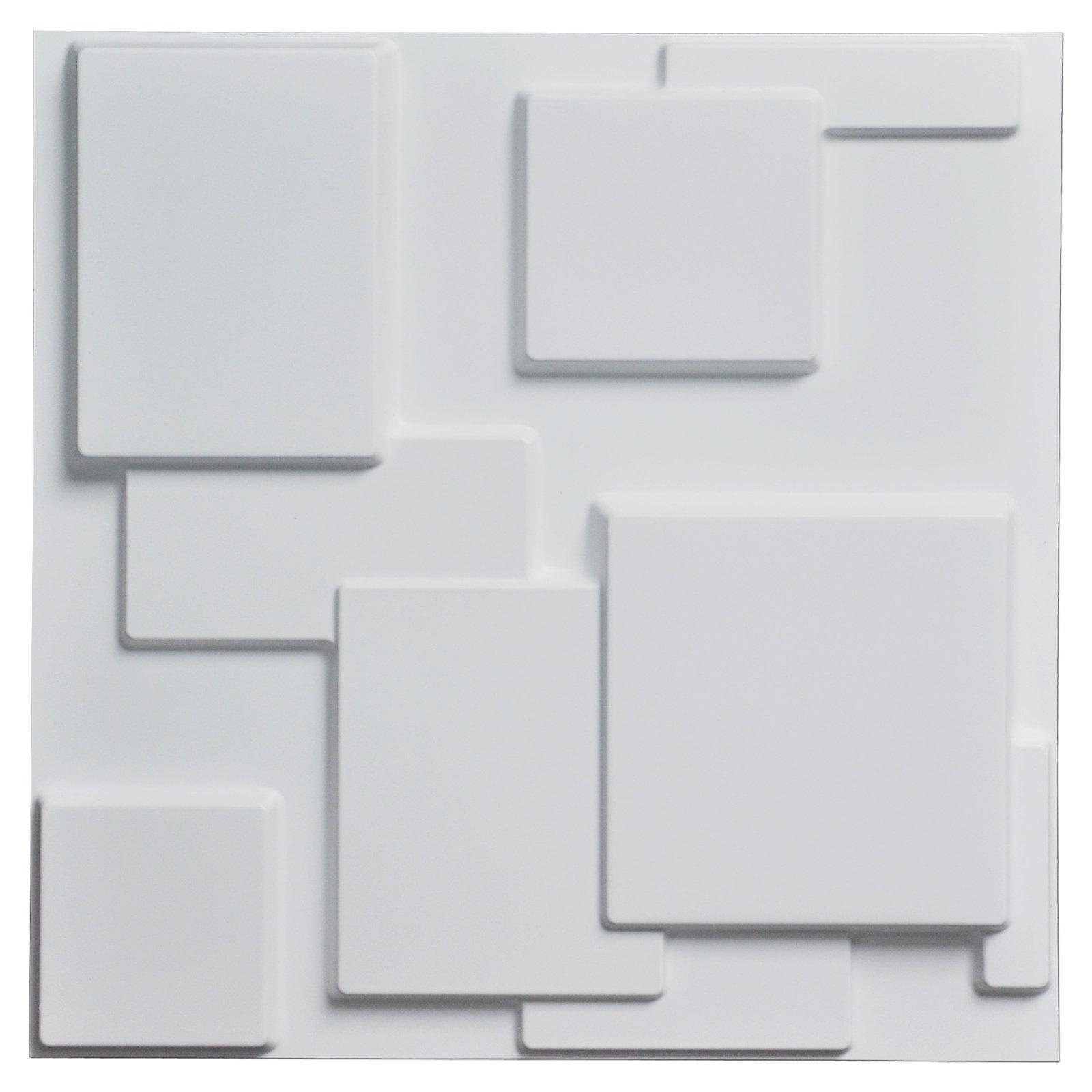 Art3d Decorative Tiles 3D Wall Panels for Modern Wall Decor White