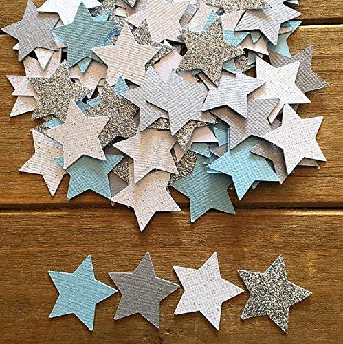 Double Sided Christmas Cards Walmart - SSJSHOP 100 Star Confetti, Silver Star, It's a Boy, star decoration, star baby shower, baby shower confetti, Twinkle twinkle, star is born, die cut