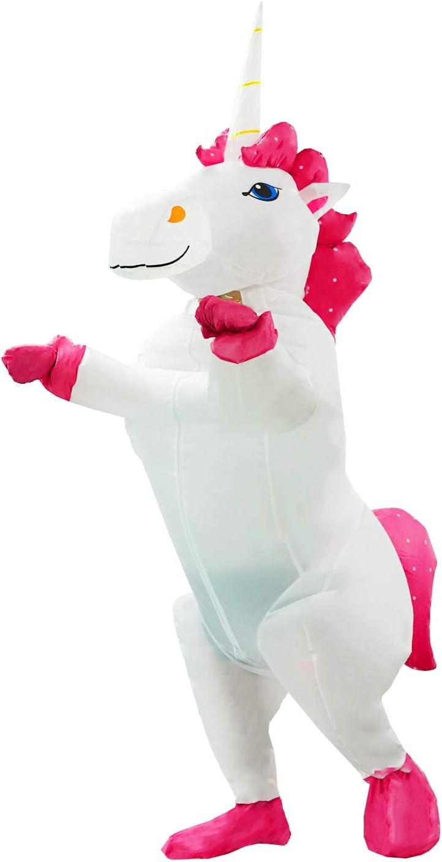 JF Deco Disfraz de Unicornio Inflable Disfraz de Halloween para ...
