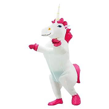 JF Deco Disfraz de Unicornio Inflable Disfraz de Halloween ...