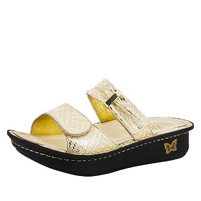 84daae136 Alegria Women s Karmen Sandal Gold Dazzler 35