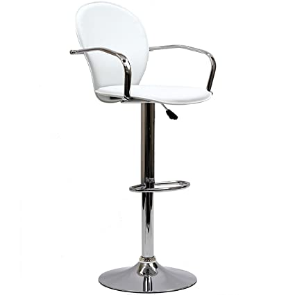 Modway Captain Bar Stool In White