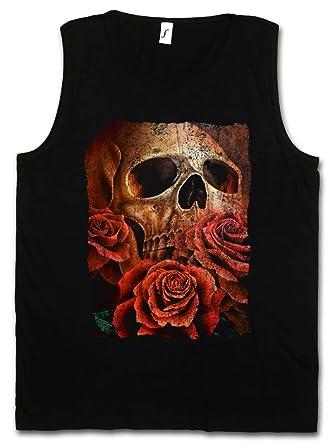 Urban Backwoods Skull of The Eric Herren Tank Top Muscle Shirt – Roses  Schädel Tattoo Totenschädel