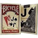Bicycle Large Print Bridge Playing Cards 2 Decks -(1) Red, (1) Blue