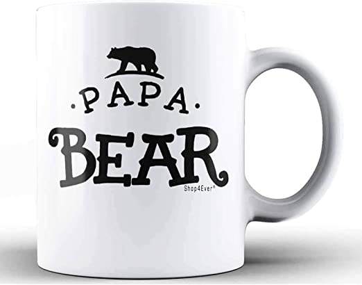 tea Coffee Cup Funny ceramic Gift Mug papa bear 2 mug Mother Gift Father Gift fathers Day Gift dad