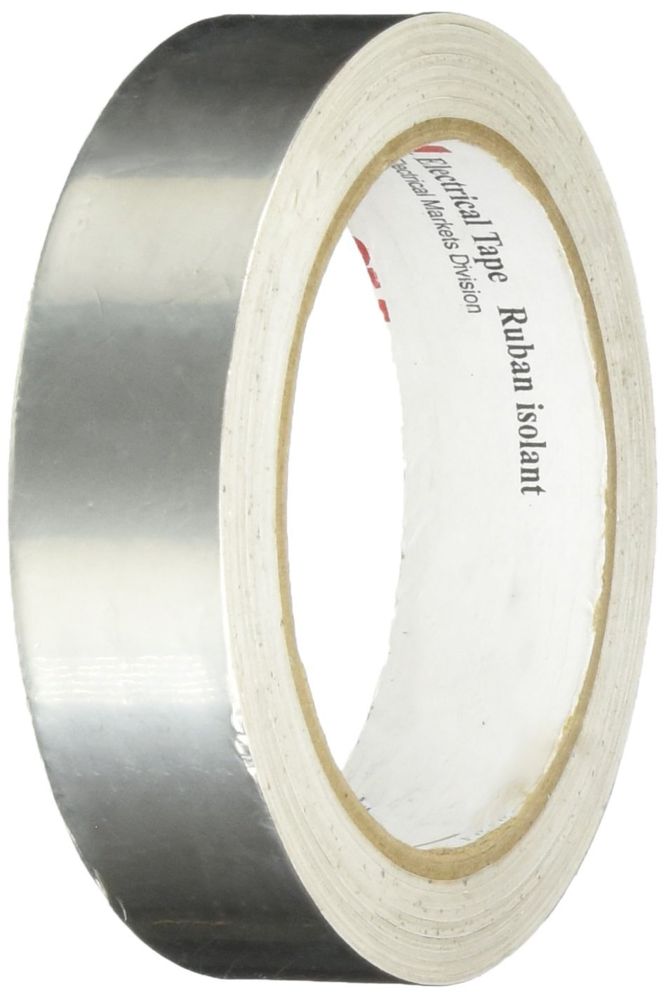 3M 1183 Tin-Plated Foil Tape, with Conductive Adhesive- Silver, 18 yds length, 1'' width, 1 roll